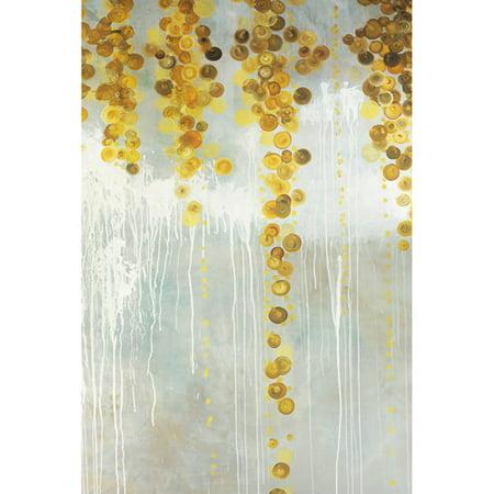 Gold Swirls 24   X 36   Canvas Wall Decor