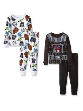 Star Wars Boys' Toddler Boys' 4-Piece Pajama Set