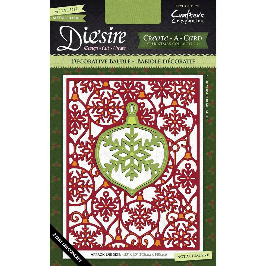 Die'sire Create-A-Card Cutting & Embossing Die-Decorative Bauble