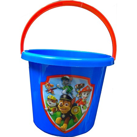 Children's Boys Nature Exploration Toy Bucket for Storage, Play, or Halloween Trick O Treat Pail, AS PICTURED By Paw Patrol (Halloween Sang)