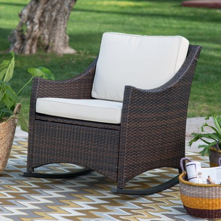 Country Style Rocker - Coral Coast Harrison Club Style Rocking Chair with Cushion