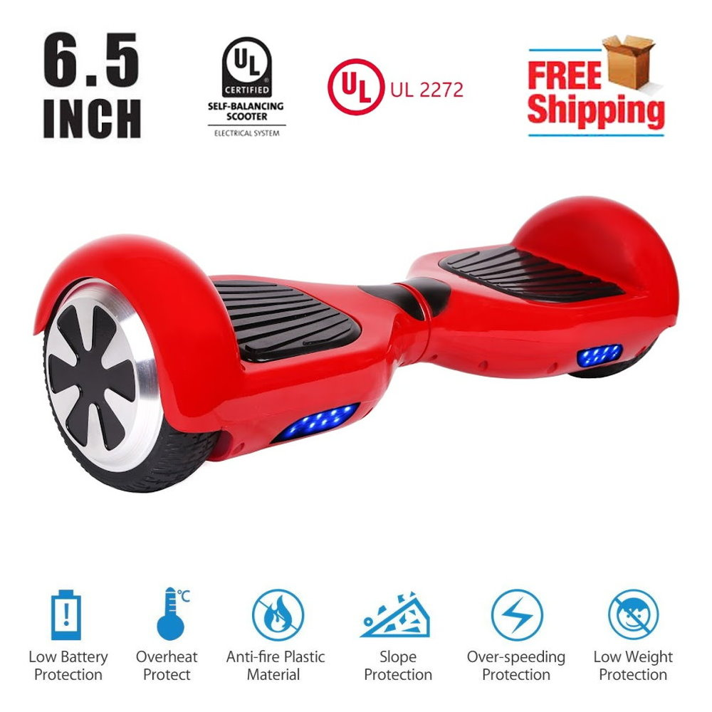 UL 2272 Certificated 36V 2.2A 6.5 inch Hoverboard Two Wheel Electric Self Balancing... by