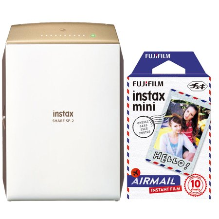 Fujifilm Instax Share Sp 2 Smart Phone Printer Gold With 10 Airmail Film