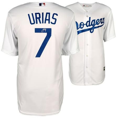Dodgers Autograph - Julio Urias Los Angeles Dodgers Fanatics Authentic Autographed Majestic White Replica Jersey - No Size