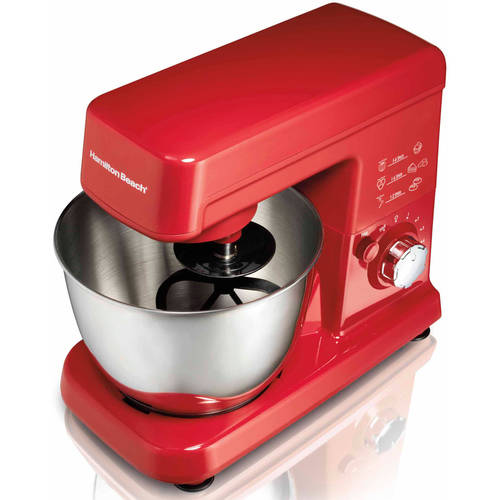 Hamilton Beach 3.5 Quart Orbital Stand Mixer, Red 63328