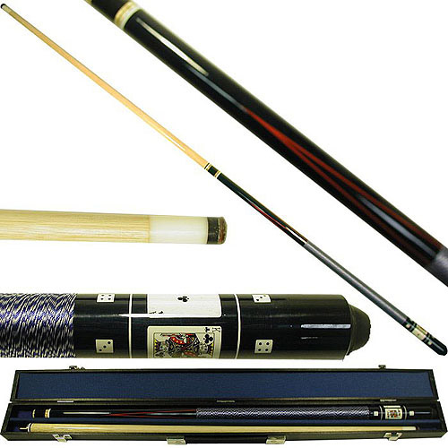 Black Royal Flush Poker Pool Stick