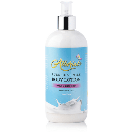Butter Goats (Pure Hydrating Goat Milk Lotion: Fragrance Free Body Moisturizer with Shea Butter, Coconut Milk, Honey and Argan Oil for Dry, Cracked and Sensitive Skin - Cruelty Free - 12 Ounce Bottle with Pump)