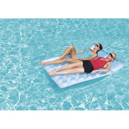 H2OGO! Double Beach Bed Inflatable Pool Float for $<!---->