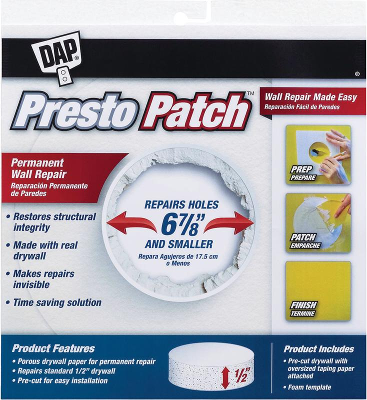 "Dap 09157 1/2"" X 6-7/8"" Presto Wall Patch"