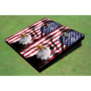 Custom American Flag With Eagle Themed Cornhole Board set