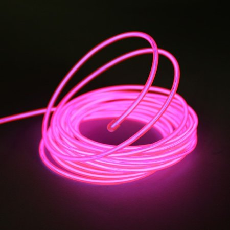 Esky Flamingo Custom Neon Light Glowing Strob El Wire Light for Parties and Decoration, with Battery Pack (15ft Portable Water Resistant, Pink)