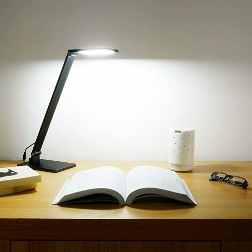 BESTEK Office Light LED Desk Clamp Lamp Light 2 in 1 Dimmable Touch Table Lamp with Clip and 3 Brightness Levels for... by Bestek