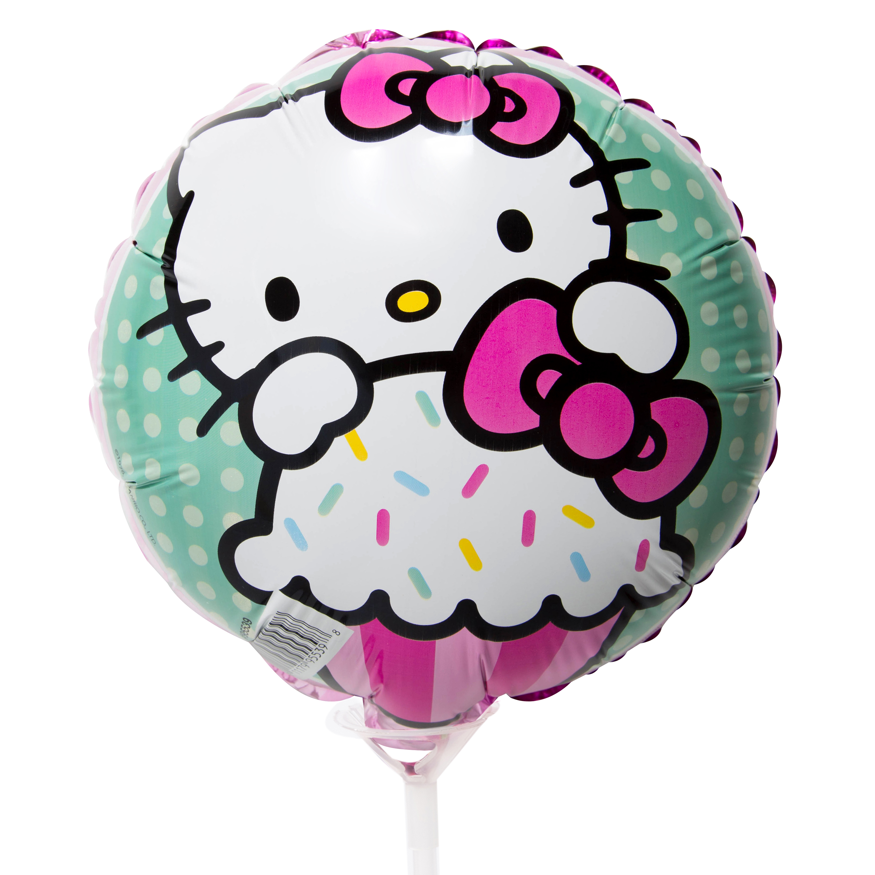 "9"" Foil Hello Kitty Balloon with Stick"