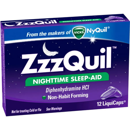 Vicks ZzzQuil Nighttime Sleep Aid, 12 CT (Pack of 6)