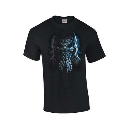 Praying Grim Reaper Adult T-Shirt - Reaper Clothes