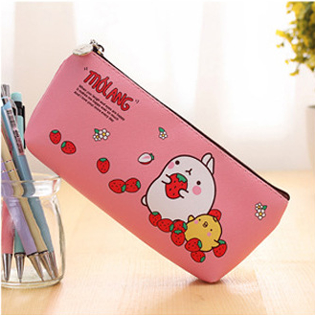 Cute Kawaii Molang Rabbit Waterproof Storage Pen Pencil Bag Stationery
