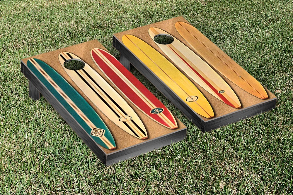 Old School Surfing Cornhole Game Set by Victory Tailgate