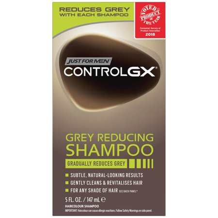 Just For Men Control GX, Grey Reducing Hair Color Shampoo that Gradually Reduces Grey, 5 Fluid
