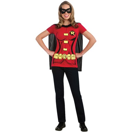 Robin Sexy Adult Halloween Shirt - Woman Batman And Robin Halloween Costumes