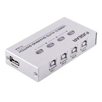 4 Port USB 2.0 Auto Sharing Switch HUB Selector Switcher For Printer