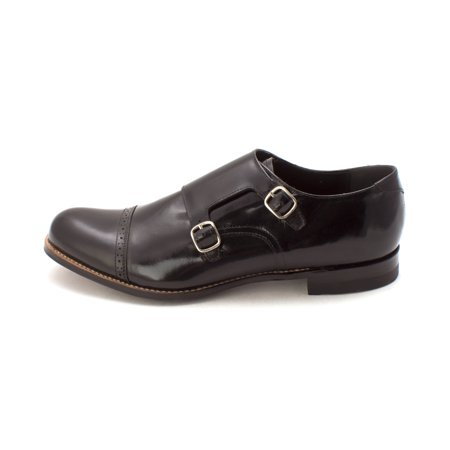 Stacy Adams Mens madison Leather Buckle Dress Oxfords, Black, Size 10.5