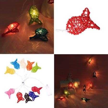 Christmas 2m 10 LED Fish Lights Party Home Decor Outdoor Indoor Xmas -