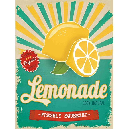 Barnyard Designs Freshly Squeezed Lemonade Retro Vintage Tin Bar Sign Country Home Decor 10  X 13