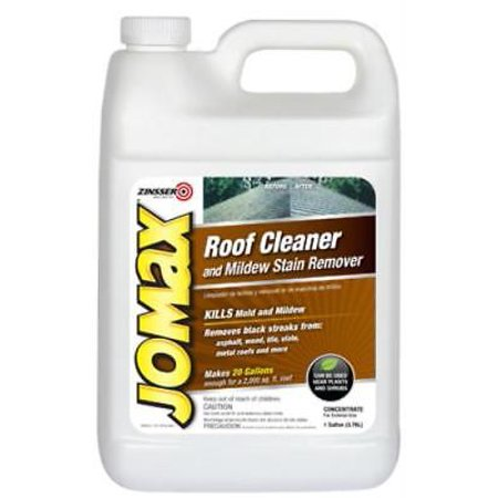 Stained Roof - Jomax Gallon Roof Cleaner & Mildew Stain Remover Removes Black Streakers
