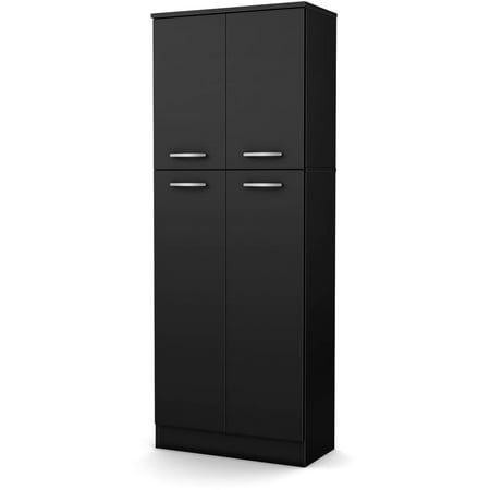 South Shore Smart Basics 4-Door Storage Pantry, Multiple - Tall Linen Cabinet