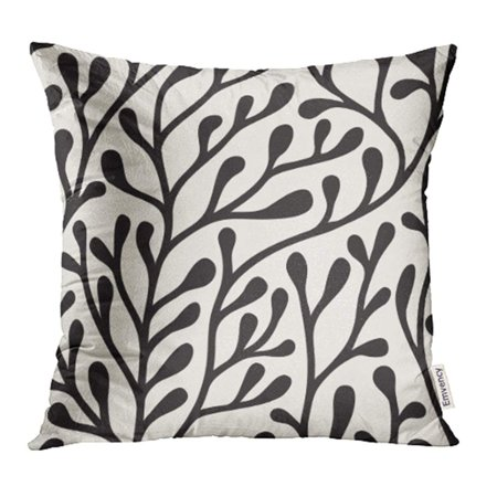 YWOTA Abstract Floral Stylish Bold Silhouette of Branches Black Branch Carpet Creative Pillow Cases Cushion Cover 16x16 inch (Bold Branches)