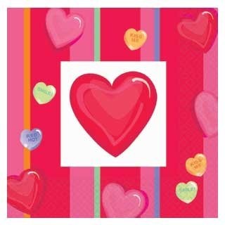 Valentine's Day Lunch Napkins - Valentines Day Party - Valentines Hearts Napkins](Valentine's Day Class Party Ideas)
