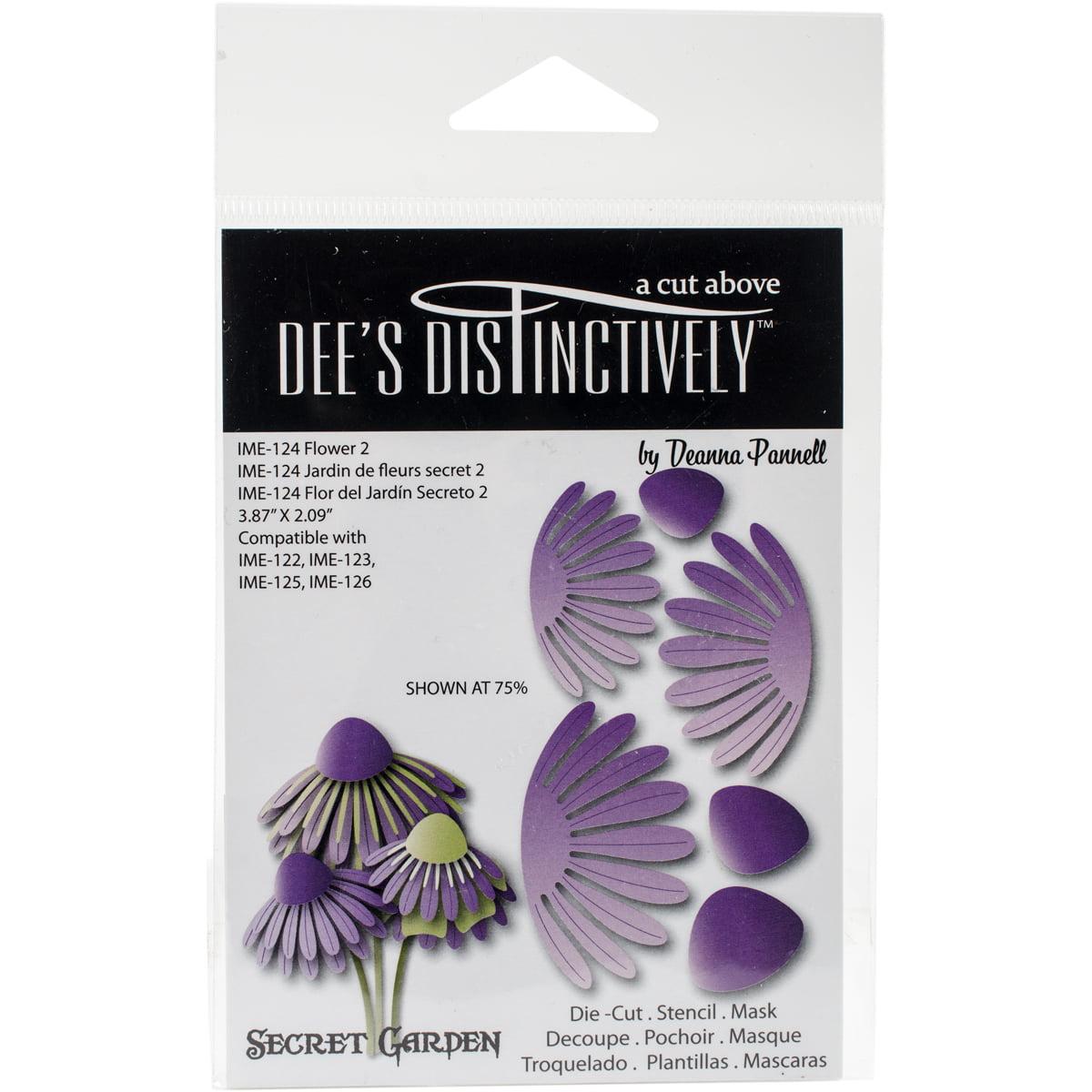 """Dee's Distinctively Dies-Secret Garden Flower 2 3.87""""X2.09"""""""