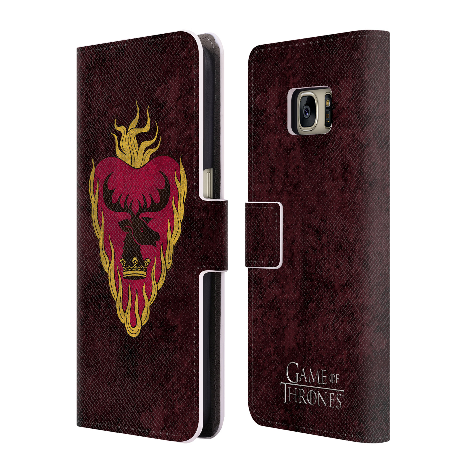 OFFICIAL HBO GAME OF THRONES DARK DISTRESSED SIGILS LEATHER BOOK WALLET CASE COVER FOR SAMSUNG PHONES 1