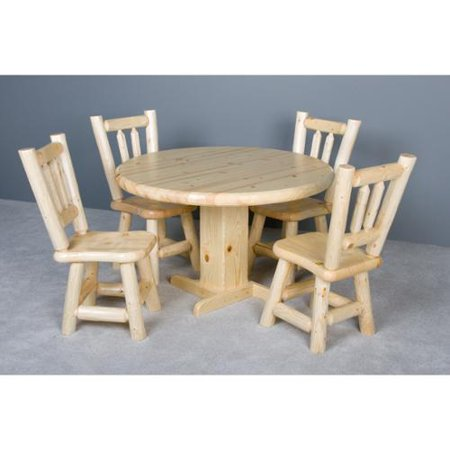Viking Log 5 Pc Round Log Dinette Table Set  485 Product Photo