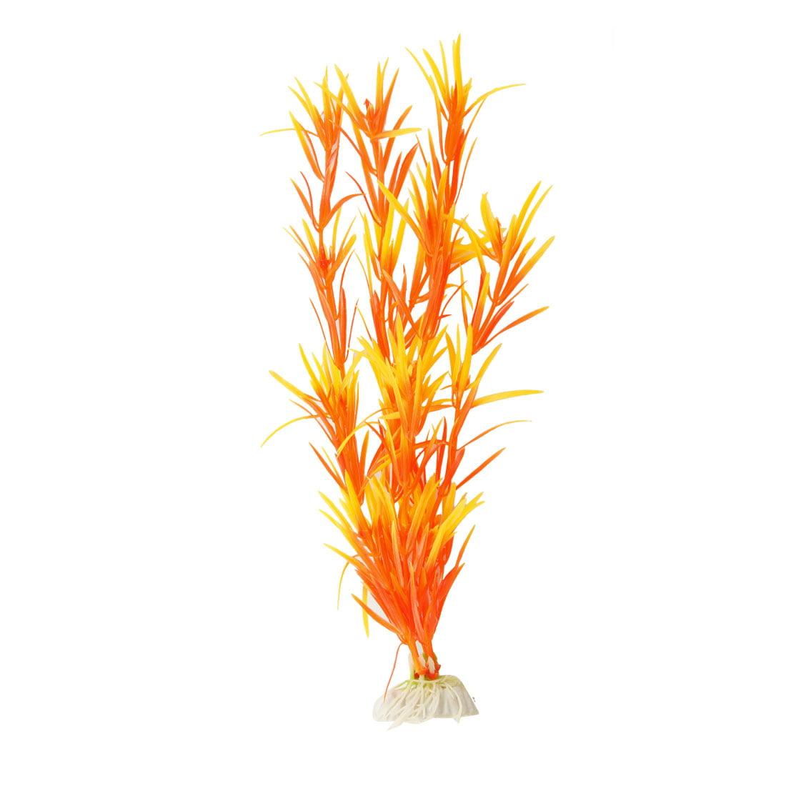 Unique Bargains Unique Bargains Aquarium Decor Artificial Orange Yellow Plant Grass Ornament