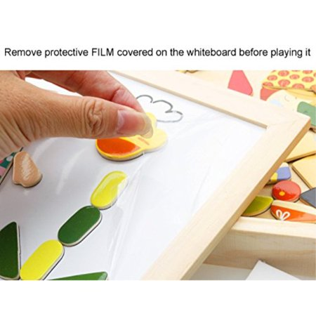 Lewo Wooden Educational Toys Magnetic Art Easel Animals Wooden Puzzles Games for Kids - image 2 of 4