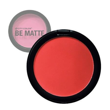 (3 Pack) CITY COLOR Be Matte Blush Blood Orange - Bloody Makeup