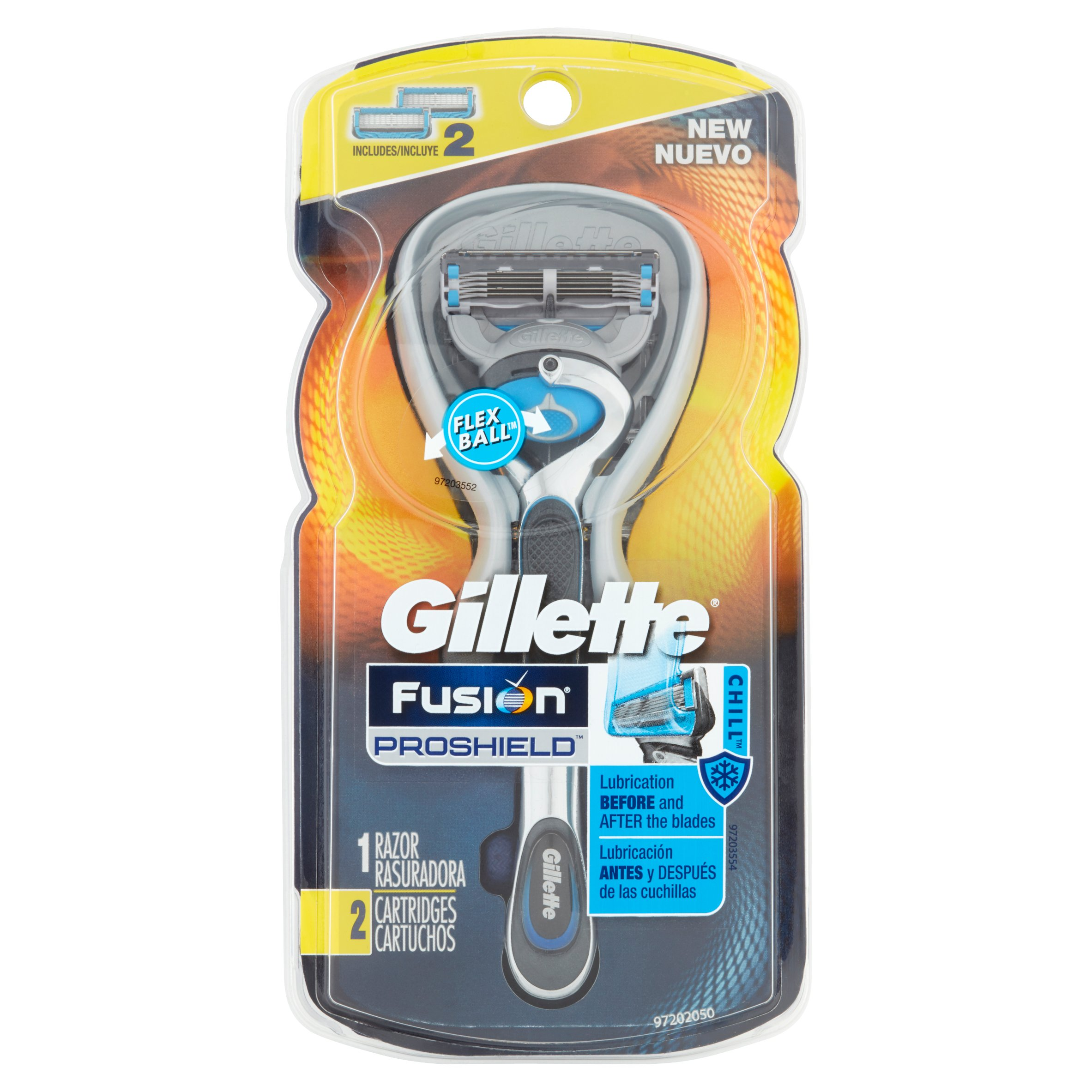 Gillette Fusion5 ProShield Chill Razor with 2 Replacement Cartridges