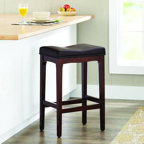 "Better Homes and Gardens 29"" Padded Saddle Stool, Cherry, Set of 3"
