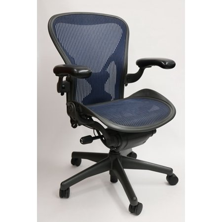 Herman Miller Aeron Chair Size B Fully Featured Cobalt Blue W/Posturefit, Executive Office Chair