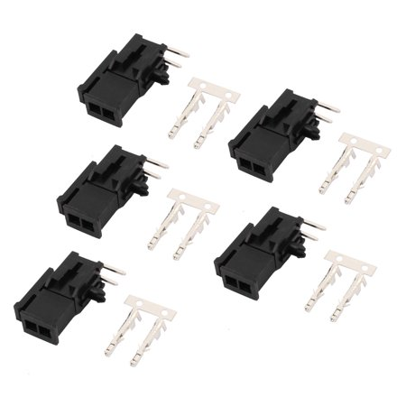 5 Sets Dual Row 3.0mm 2P Male Housing Crimp Terminal Connector Header Bent