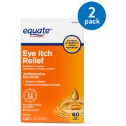 Equate Antihistamine Eye Drops Eye Itch Relief, 60 day supply, 0.34 oz