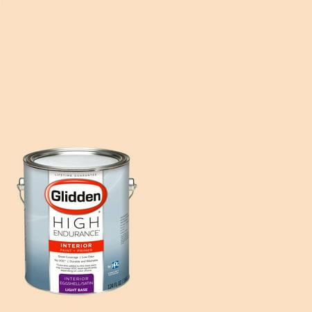 Glidden High Endurance, Interior Paint and Primer, Peach Powder, #10YY (Powder And Paint)