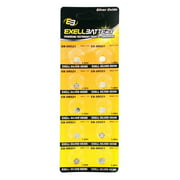 10pk Exell EB-SR521 Silver Oxide 1.5V Watch Battery for SR521SW 379