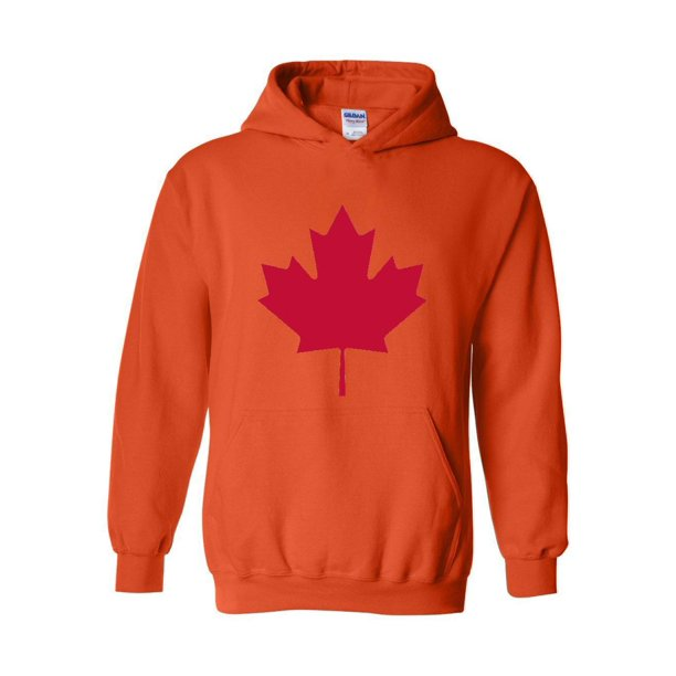 Canada Maple Leaf Canadian State Flag Unisex Hoodie Hooded Sweatshirt