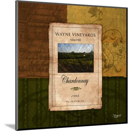 Chardonnay Wine Label Wood Mounted Print Wall Art By Shawnda Craig