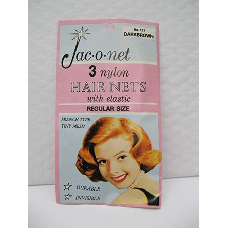 12 Nylon Regular Hair Nets Light Brown #161 Jac-O-Net