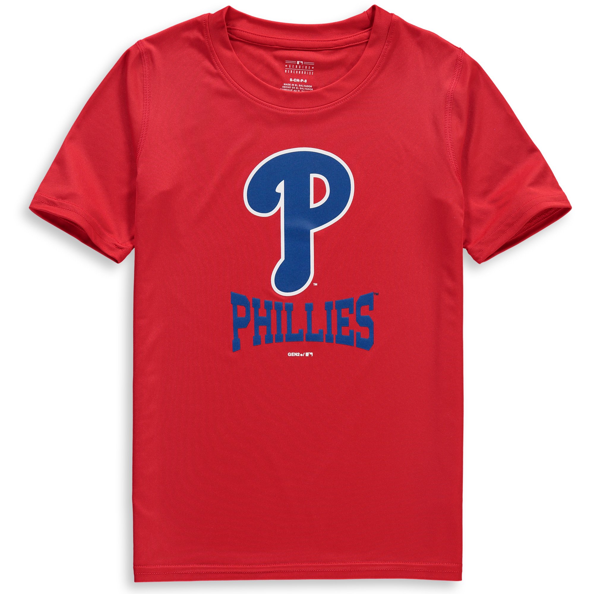 Philadelphia Phillies Youth Link Up Dri-Tek T-Shirt - Red