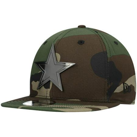 Dallas Cowboys New Era Woodland Brush 9FIFTY Snapback Hat - Camo - OSFA