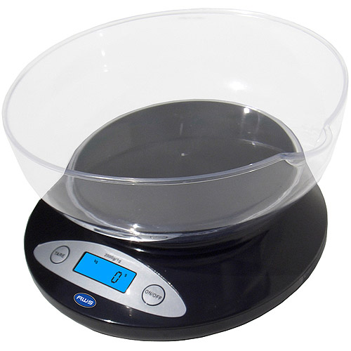 American Weigh Scales Inc. Digital Kitchen Scale, Removable Bowl